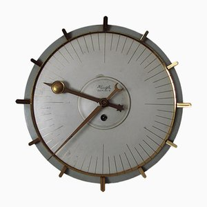 Reloj de pared de latón de Kienzle International, años 60