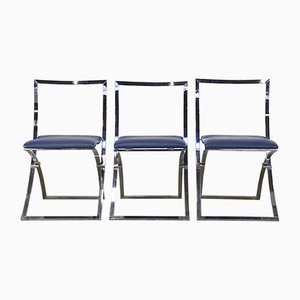 Sedie pieghevoli modello Luisa di Marcello Cuneo per Mobel Italia, set di 3