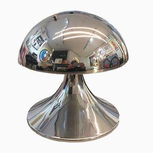 Vintage Edelstahl Pilzlampe