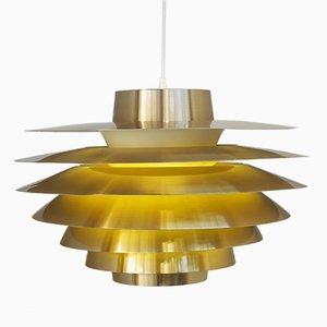 Lampe à Suspension Verona Laiton par Svend Middelboe pour Nordisk Solar, 1980S