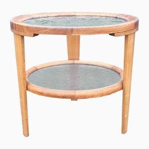Danish Art Deco Oak and Glass Coffee Table, 1930s