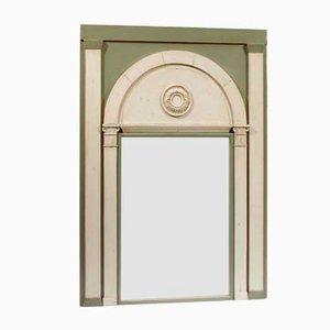 Französischer Vintage Spiegel mit geschnitztem zweifarbigem Rahmen