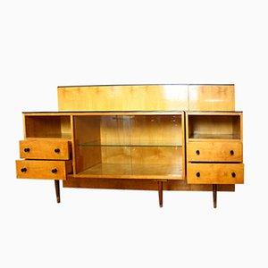 Mueble de dormitorio Klivie vintage con mesa de UP Zavody, años 60. Juego de 2