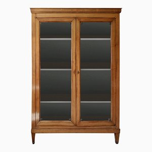 French Sycamore Display Cabinet, 1970s