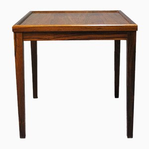 Small Danish Side Table in Rosewood, 1960s