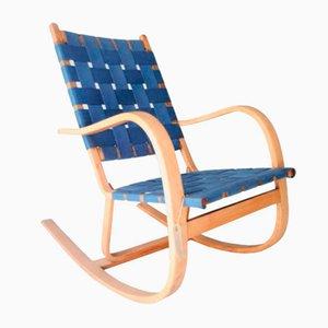 Rocking Chair Vintage en Bouleau