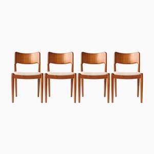 Vintage Dining Chairs by N.O. Møller, Set of 4