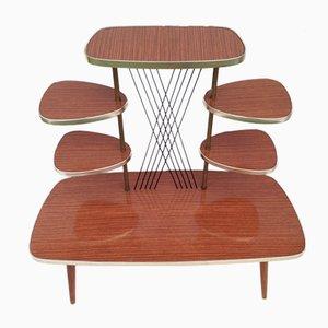 Système d'Etagère Vintage avec 6 Etagères en Bois, 1960s