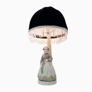 Lampada Art Nouveau di Josef Lorenzl per Fridrich Goldscheider, anni '20