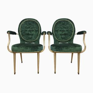 Art Deco Medaillon Armchairs, Set of 2