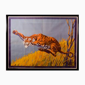 Poster Tigre Cirque par Hal Bert pour Moody Bros, 1940s