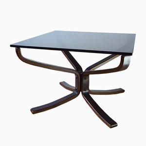 Table Basse avec Dessus en Verre par Sigurd Ressell