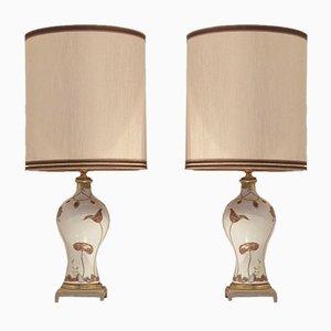 Lampes de Table Mid-Century de Porcelaine de Sèvres, France, 1960s, Set de 2