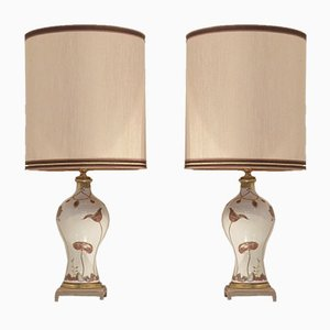Mid-Century French Table Lamps from Porcelaine de Sèvres, 1960s, Set of 2