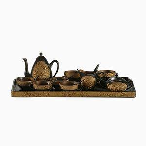 Dekoratives Tee Service aus dem 19. Jahrhundert