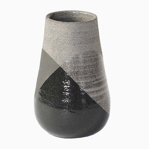 Medium Grey & Black Shake Vase by Anja Borgersrud for Anbo Design