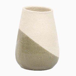Petit Vase Shake en Vert-Gris et Blanc par Anbo Design pour Anja Borgersrud