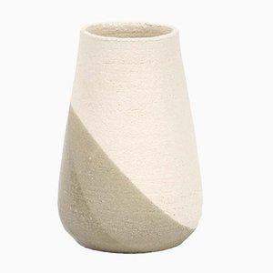 Vase Shake Moyen en Vert-Gris et Blanc par Anbo Design pour Anja Borgersrud