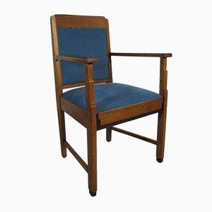 Art Deco Oak and Ebony Chair, 1920s