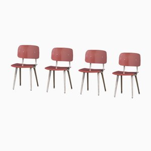 Marron Revolt Chairs by Friso Kramer for Ahrend de Cirkel, Set of 4