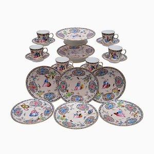 Antique Porcelain Chinoiserie Dessert Service