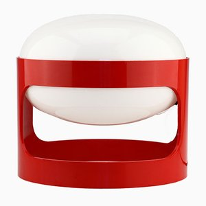 Vintage KD27 Red Plastic Space Age Table Lamp by Joe Colombo for Kartell