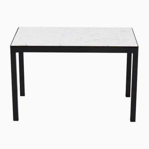 Table Basse Vintage avec Marbre Blanc de Carrare