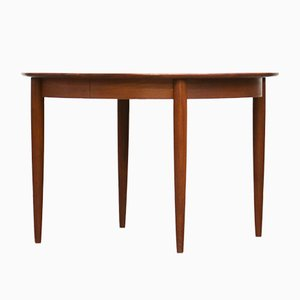 Scandinavian Teak Dining Table with Extension Leaves