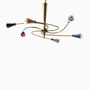 Lámpara de techo Sputnik italiana de Stilnovo, años 50