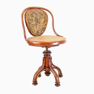Chaise Musical Nr.2 Antique avec le Portrait de Wagner de Thonet, 1900s
