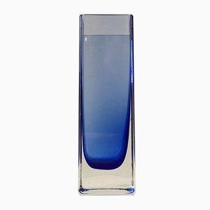 Vase Moderniste Bleu en Verre par Gunnar Ander pour Lindshammar, 1960s