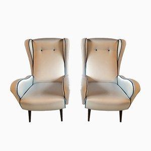 Italienische Mid-Century Sessel, 1950er, 2er Set