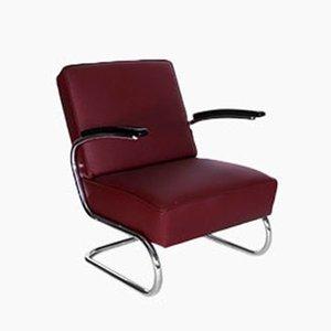 Chaise Club Vintage Bauhaus en Acier Tubulaire de Mauser