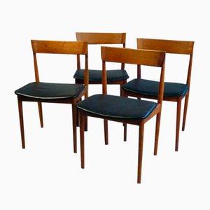 Sedie da pranzo modello 39 di Henry Rosengren Hansen per Brande Møbelindustri, anni '60, set di 4