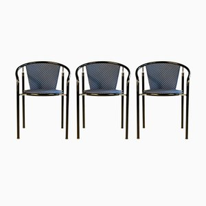 Dark Horse Dining Chairs by Rud Thygesen & Johnny Sørensen for Botium, 1980s, Set of 3