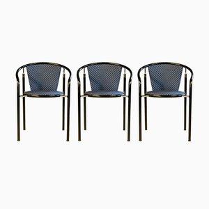 Dark Horse Dining Chairs by Rud Thygesen & Johnny Sørensen for Botium, 1980s, Set of 3
