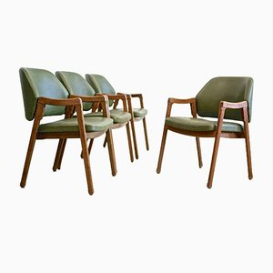 Vintage Model 814 Armchairs by Ico Parisi for Cassina, Set of 4