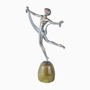 Österreichische Art Deco Figurine aus Bronze von Lorenzl, 1930