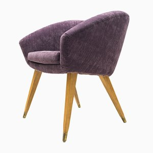 Mid-Century French Purple Cocktail Chair, 1950s
