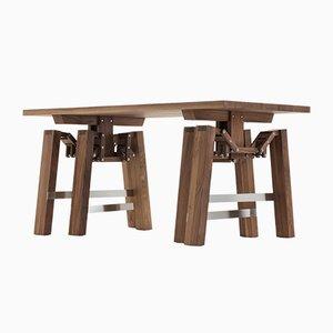 Nussholz Walking Table von Wouter Scheublin