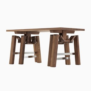 Walnut Walking Table by Wouter Scheublin