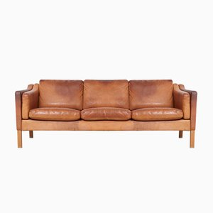 2323 Leather Sofa by Borge Mogensen for Fredericia, 1970s
