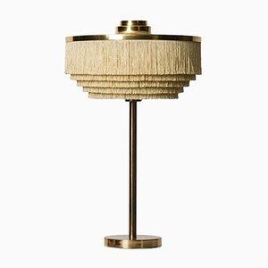 Lampe de Table B-138 en Laiton et en Soie par Hans-Agne Jakobsson