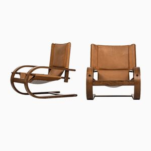 Scacciapensieri Easy Chairs by Gionathan de Pas & Donato D'Urbino & Paolo Lomazzi for Poltronova, Set of 2