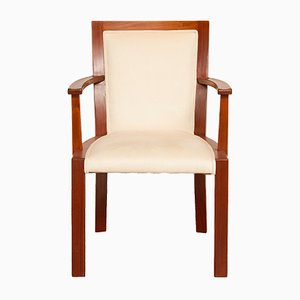 Art Deco Walnut Armchair, 1930s
