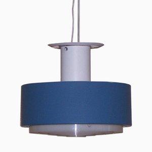 Lampada a sospensione blu e bianca di Philips, anni '50
