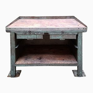 Vintage Industrial Factory Workbench, 1920s