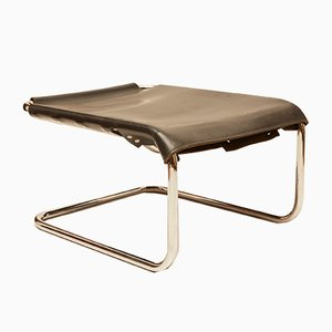 Vintage S 35 H Leather Foot Stool by Marcel Breuer for Thonet