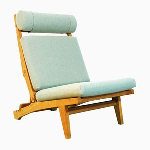 Danish AP71 Folding Lounge Chair by Hans J. Wegner for AP Stolen, 1960s