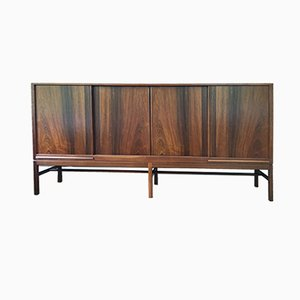 Vintage Rosewood Sideboard with Four Sliding Doors & Four Drawers